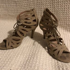 Christian Siriano lace up heels. Size 8
